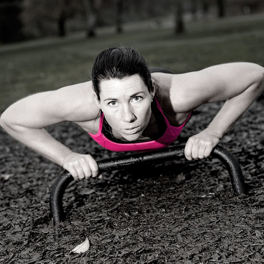 Outdoor gym equipment push-ups