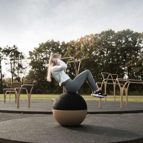 Udendørs fitness udstyr med EPDM Gummi træningsredskaber-til-udendørs-fitness-gummikugle-af-epdm-gummi