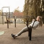 Outdoor gym equipment incline pull up
