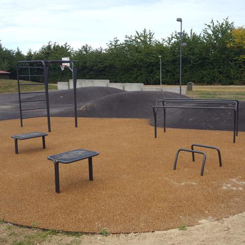 Mini parallel outdoor fitness equipment
