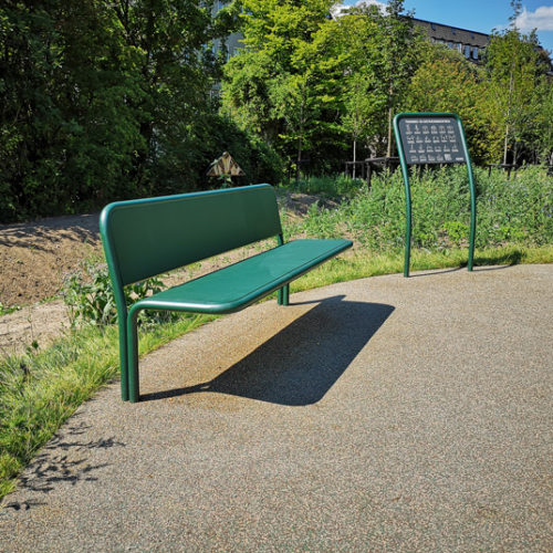 Park bench frederiksberg outdoor fitness